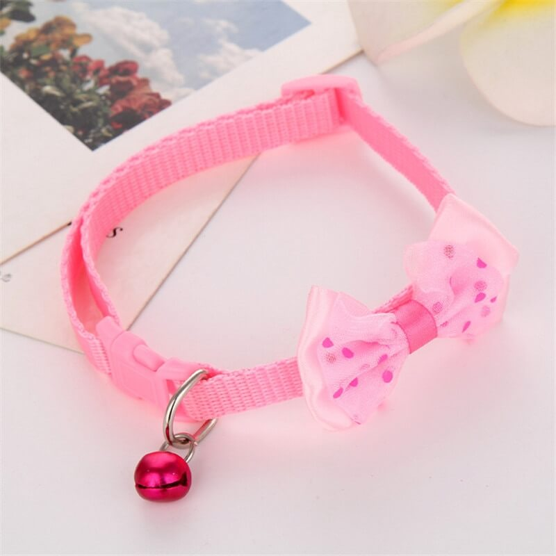 Pink Girl Female Royal Print Bow Cat Collar, with Bell in Uganda