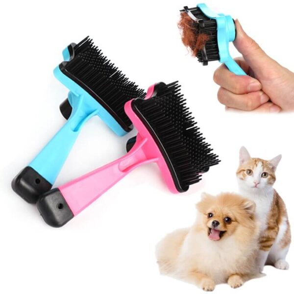 Buy Slicker Pet Hair Remover Grooming Brush with Auto-Clean in Kampala