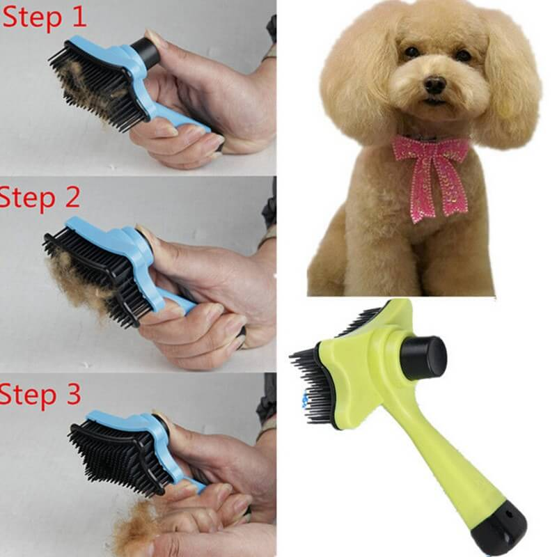 Cheap Slicker Pet Hair Remover Grooming Brush with Auto-Clean in Uganda